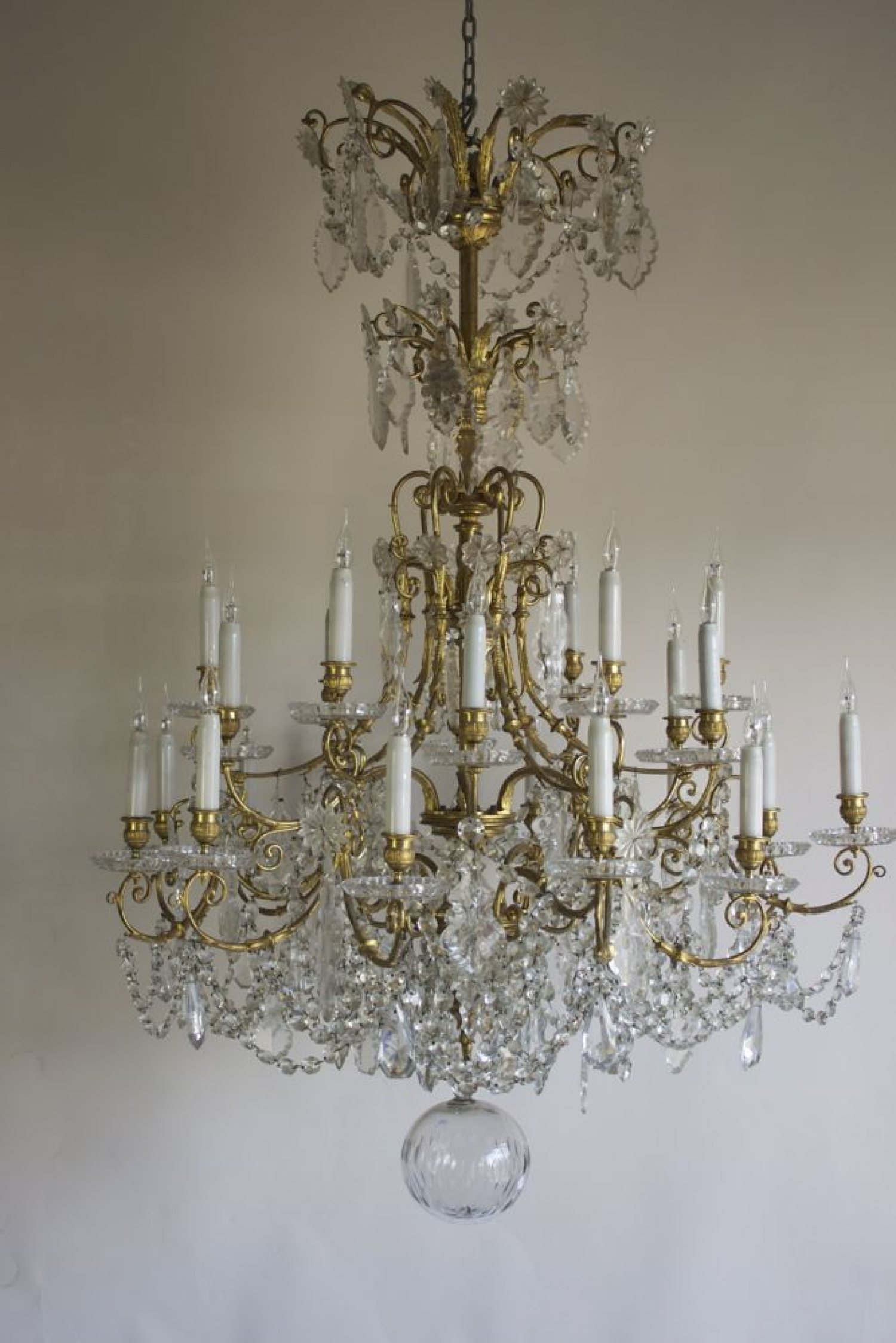 Antique Baccarat Chandelier - image 2 - Antique Baccarat Chandelier - Norfolk Decorative Antiques