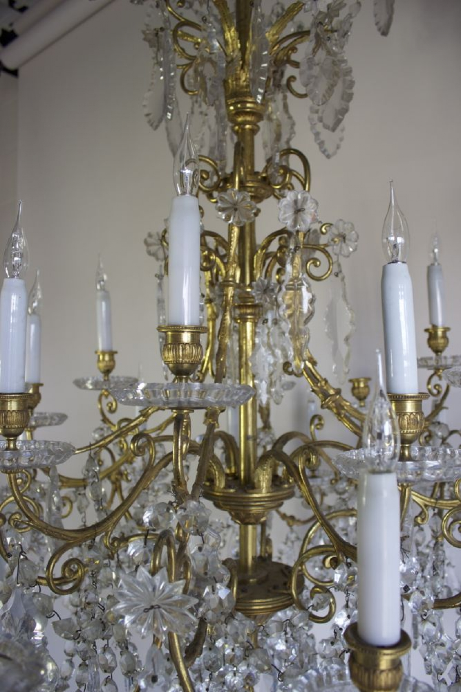 Antique Baccarat Chandelier - image 3 - Antique Baccarat Chandelier - Norfolk Decorative Antiques