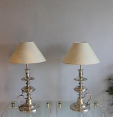Antique lighting -  Silver plated lamps