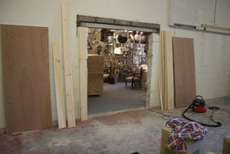 Antique lighting showrooms - work continues