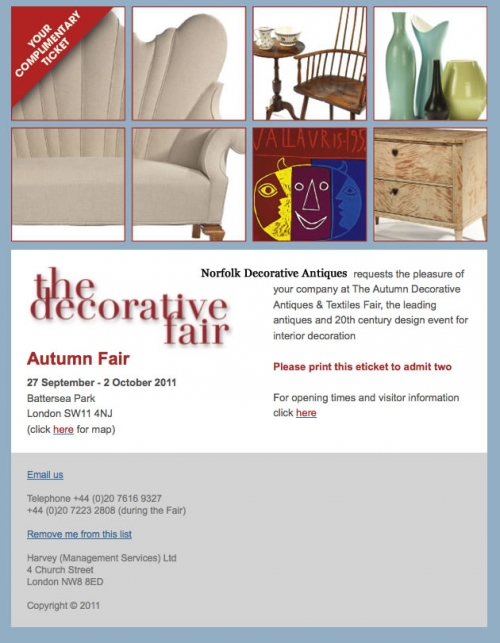 AUTUMN DECORATIVE FAIR - BATTERSEA - Main image