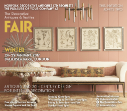 Exhibiting NEW antique lighting at the Decorative Fair Jan 17