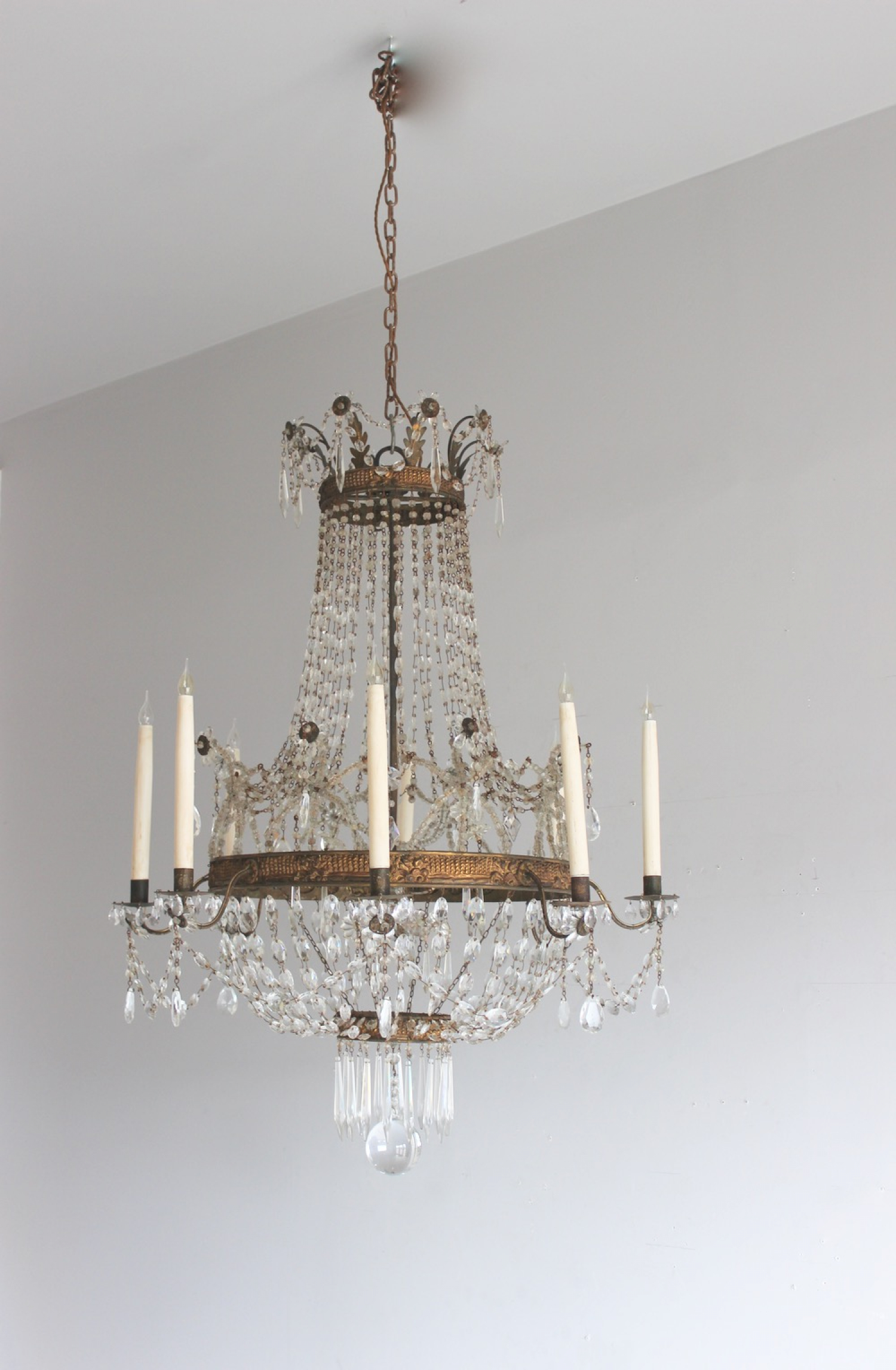 international crystal chandelier decorative chandeliers cut iridescent bead decor products portofino cascade diamond