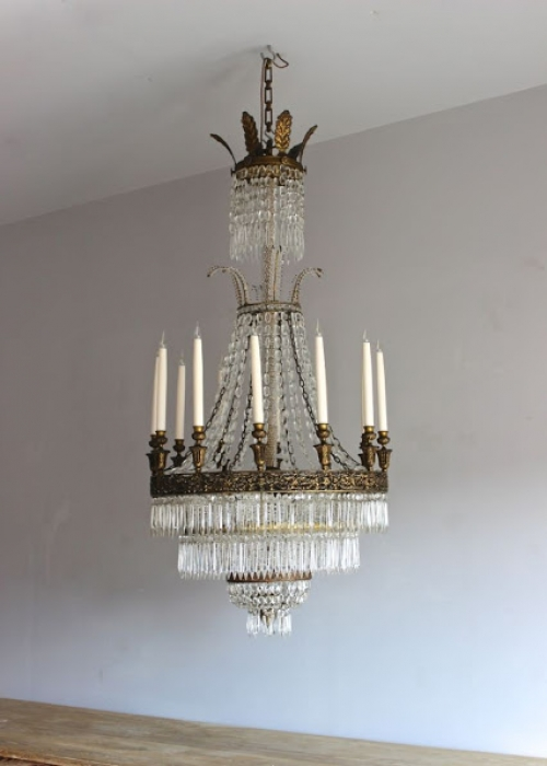 Large Antique Chandeliers - part of our Antique Lighting Range - image 6
