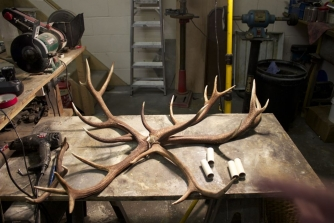 Making an Antique Chandelier from Antlers