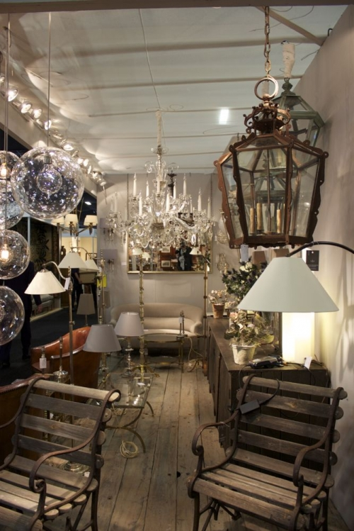 Our Antique lighting at the Decorative Fair until Sunday 26th - Main image