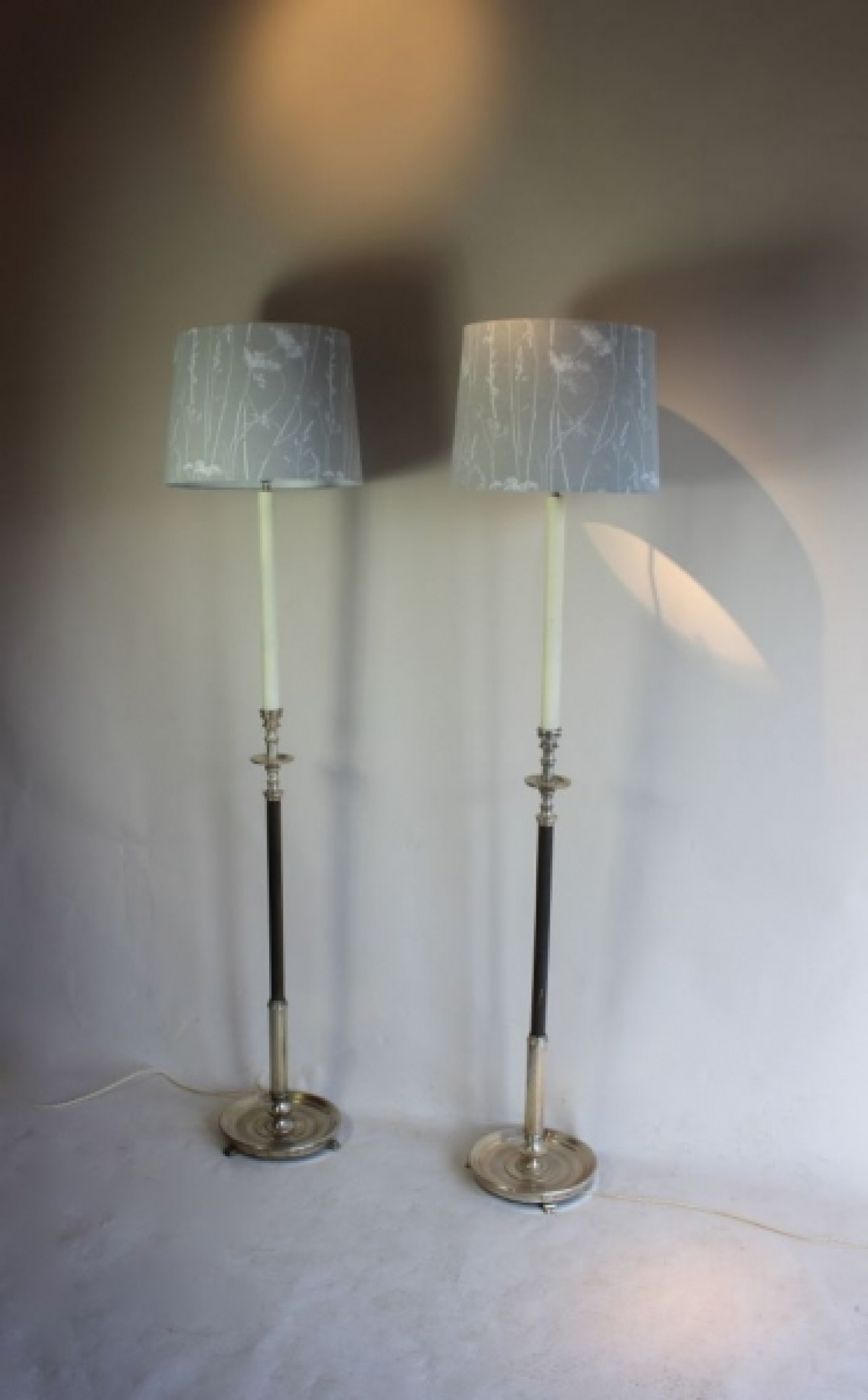 Pairs of antique floor lamps , a big part of our antique lighting ...