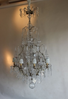 Restoration project - Antique Chandelier from frame to fairy...