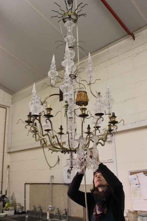 Restoration project - Antique Chandelier from frame to fairy tale - image 2