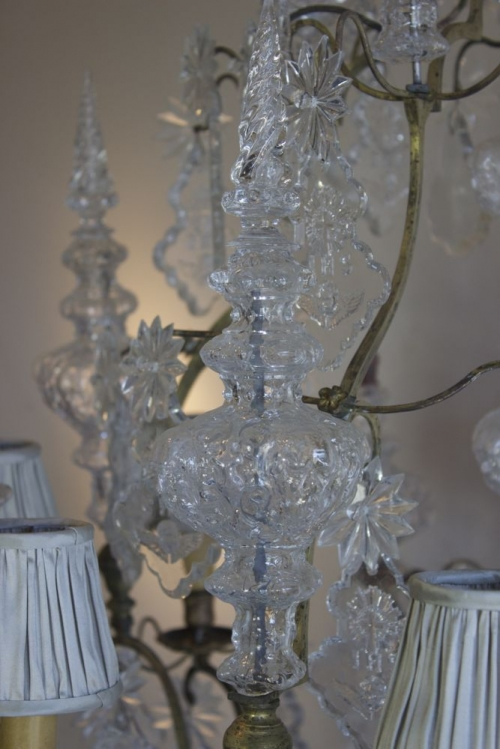 Restoration project - Antique Chandelier from frame to fairy tale - image 4
