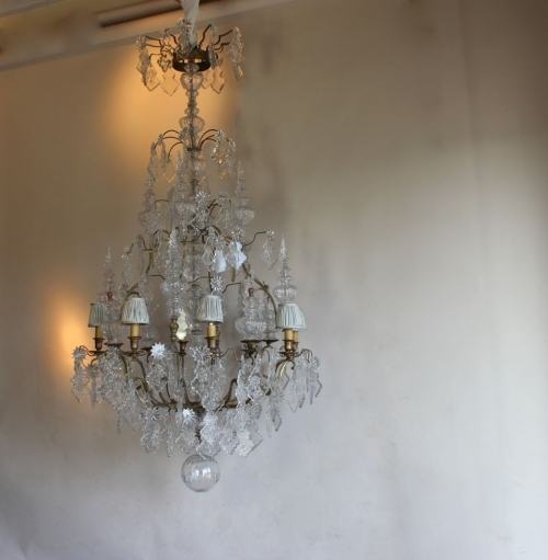 Restoration project - Antique Chandelier from frame to fairy tale - image 7