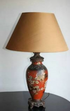 Three sets of pottery lamps