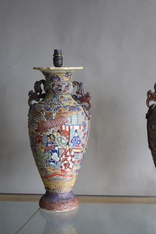 Three sets of pottery lamps - image 4