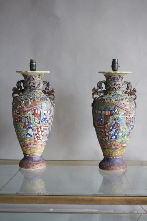 Three sets of pottery lamps - image 5