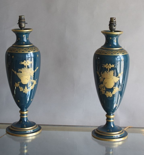 Three sets of pottery lamps - image 6