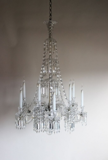 Two glass Antique Chandeliers - both beautiful