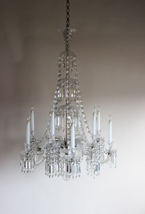 Two glass Antique Chandeliers - both beautiful - Main image