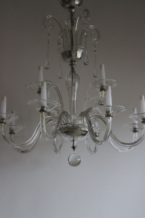Two glass Antique Chandeliers - both beautiful - image 3