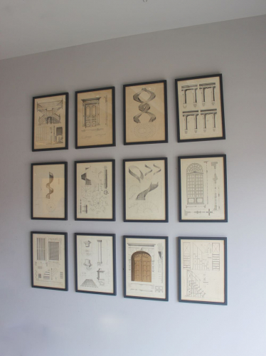 8 framed Lithographs dated 1892