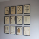 8 framed Lithographs dated 1892 - picture 2