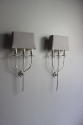 A smart pair of silver plate  wall sconces - Main