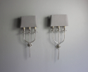 A smart pair of silver plate  wall sconces - picture 4