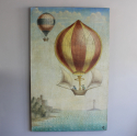 A  whimsical painting of 19th C ballooon rides - picture 2