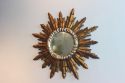 Circular French giltwood and silver mirror - picture 2
