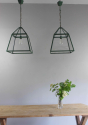 English Country kitchen lanterns  in spring Green - picture 3