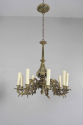 Exquisite pair of gilded brass Irish country house chandeliers - Main