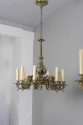 Exquisite pair of gilded brass Irish country house chandeliers - picture 5