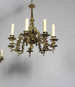 Exquisite pair of gilded brass Irish country house chandeliers - picture 6