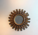 Fine French circular giltwood mirror - picture 2