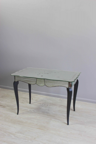 French mirrored glass side table