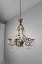 Gilt metal and cut glass chandelier - Main