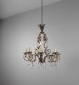 Gilt metal and cut glass chandelier - picture 2