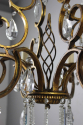 Gilt metal and cut glass chandelier - picture 3