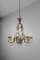 Gilt metal and cut glass chandelier - picture 4