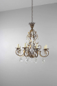Gilt metal and cut glass chandelier - picture 5