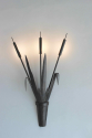 Large scale pair of forged iron bullrush Sconces - picture 2