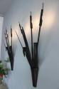 Large scale pair of forged iron bullrush Sconces - picture 6