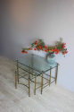 Low profile clear glass  side tables - picture 3