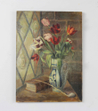 Oil on canvas - tulips in a vase - Main