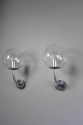 Pair mid century glass German outside lights - Main
