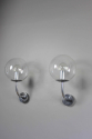 Pair mid century glass German outside lights - picture 2