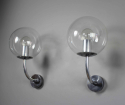 Pair mid century glass German outside lights - picture 3