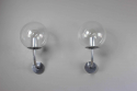 Pair mid century glass German outside lights - picture 6