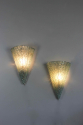 Pair mid century glass wall sconces - picture 2