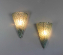 Pair mid century glass wall sconces - picture 4