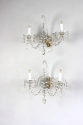 Pair of cut glass wall sconces - Main